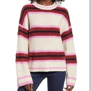 BP Striped Chenille Knit Blend Sweater Large